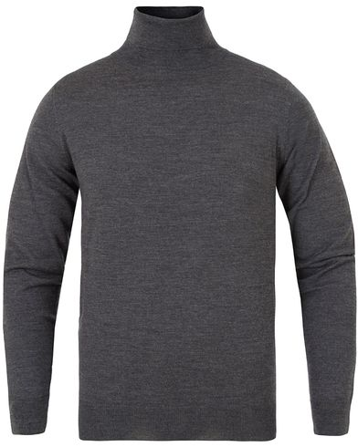 Gant Fine Merino Wool Turtleneck Antracite Melange i gruppen Gensere / Pologensere hos Care of Carl (13312311r)