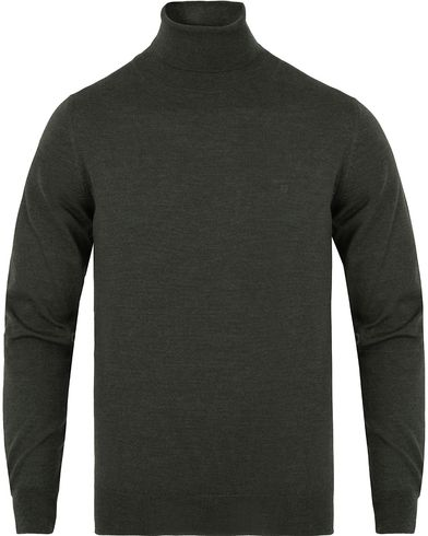 Gant Fine Merino Wool Turtleneck Field Green Melange i gruppen Gensere / Pologensere hos Care of Carl (13312411r)