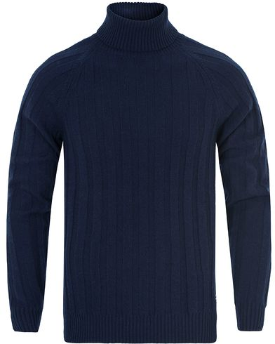 Gant Rib Wool Turtleneck Marine i gruppen Tröjor / Polotröjor hos Care of Carl (13312711r)