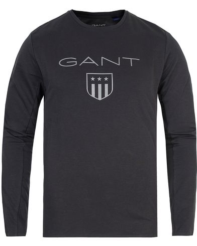 Gant Keep Dry Long Sleeve Tee Black i gruppen Kläder / T-Shirts / Långärmade t-shirts hos Care of Carl (13315711r)