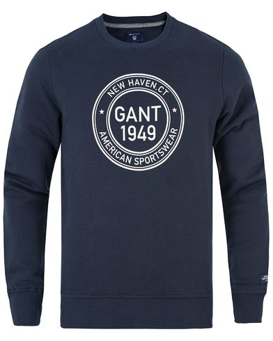 Gant Gant 1949 Sweat Navy i gruppen Tröjor / Sweatshirts hos Care of Carl (13315911r)