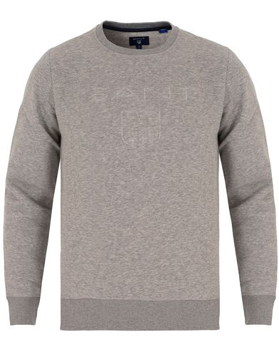 GANT GANT Embossed Crew Neck Grey Melange i gruppen Kläder / Tröjor / Sweatshirts hos Care of Carl (13316011r)