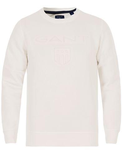 Gant Gant Embossed Crew Neck Eggshell i gruppen Gensere / Sweatshirts hos Care of Carl (13316211r)