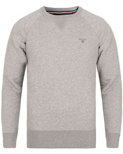 Gant The Original Crew Neck Sweat Grey Melange i gruppen Tröjor / Sweatshirts hos Care of Carl (13316311r)