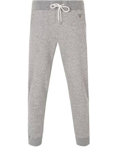Gant The Original Sweatpants Grey Melange i gruppen Bukser / Joggebukser hos Care of Carl (13316611r)