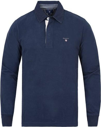 Gant The Original Heavy Rugger Shadow Blue i gruppen Tröjor / Rugbytröjor hos Care of Carl (13317911r)