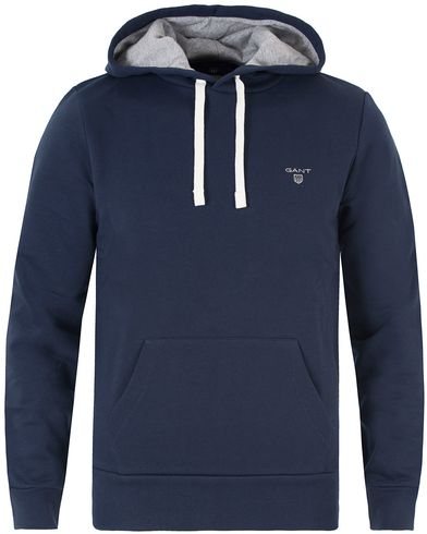 Gant Sweat Hoodie Thunder Blue i gruppen Gensere / Hettegensere hos Care of Carl (13318811r)