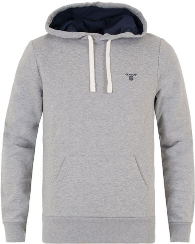 Gant Sweat Hoodie Grey Melange i gruppen Kläder / Tröjor / Huvtröjor hos Care of Carl (13318911r)