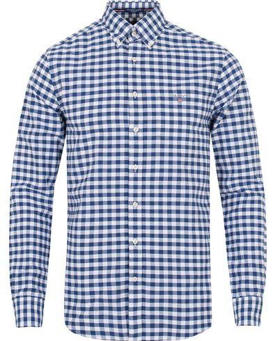 GANT The Oxford Gingham Regular Fit Shirt Yale Blue i gruppen Klær / Skjorter / Casual skjorter hos Care of Carl (13319011r)