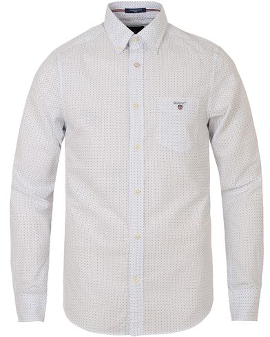 Gant The Poplin Dot Fitted Body Shirt White i gruppen Skjortor / Casual skjortor hos Care of Carl (13319111r)