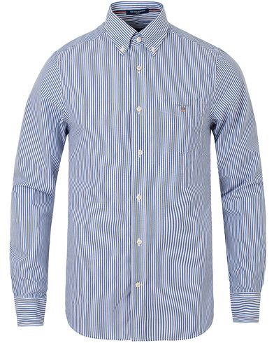 Gant The Poplin Banker Stripe Fitted Body Shirt Yale Blue i gruppen Skjorter / Casual skjorter hos Care of Carl (13319211r)