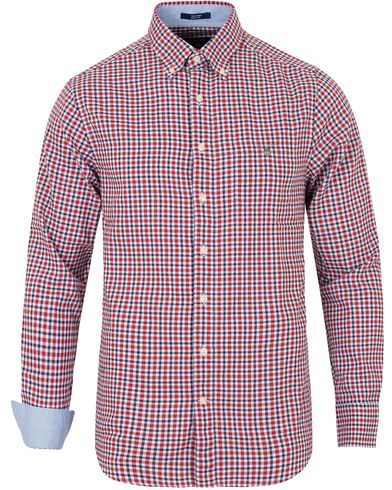 Gant Tech Prep Gingham Regular Fitt Shirt Red/Yale Blue i gruppen Skjortor / Casual skjortor hos Care of Carl (13319811r)