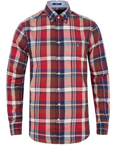 Gant Tech Prep Winter Twill Regular Fitt Shirt Red i gruppen Skjortor / Casual skjortor hos Care of Carl (13319911r)