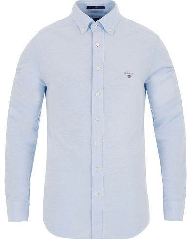 Gant Pique Solid Regular Fit Shirt Capri Blue i gruppen Skjorter / Pikéskjorter hos Care of Carl (13320111r)