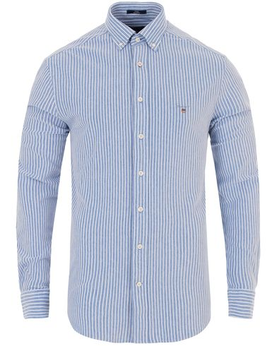GANT Pique Banker Stripe Regular Fit Shirt Palace Blue i gruppen Kläder / Skjortor / Pikéskjortor hos Care of Carl (13320311r)