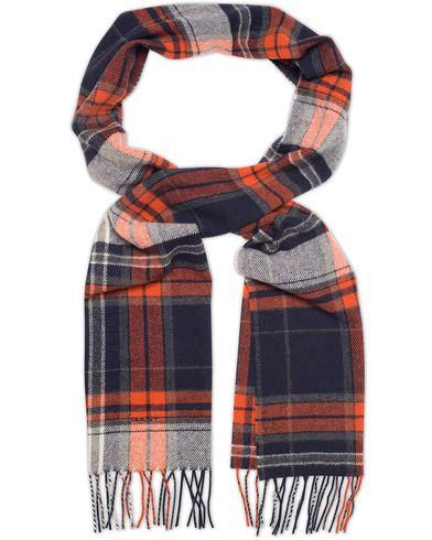 Gant Check Lambswool Scarf Burnt Ochre  i gruppen Design A / Assesoarer / Skjerf hos Care of Carl (13321110)
