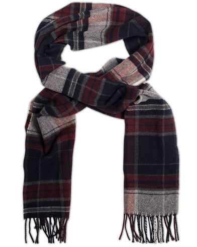 Gant Check Lambswool Scarf Purple Fige  i gruppen Assesoarer / Skjerf hos Care of Carl (13321310)