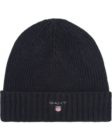 Gant Cotton Wool Lined Beanie Black  i gruppen Accessoarer / Mössor hos Care of Carl (13322110)