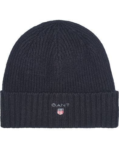 Gant Cotton Wool Lined Beanie Navy  i gruppen Accessoarer / Mössor hos Care of Carl (13322210)
