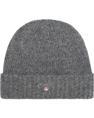 Gant Cotton Wool Lined Beanie Charcoal Melange  i gruppen Assesoarer / Luer hos Care of Carl (13322310)