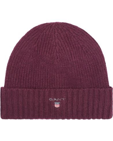 GANT Cotton Wool Lined Beanie Purple Fige  i gruppen Accessoarer / Mössor hos Care of Carl (13322410)