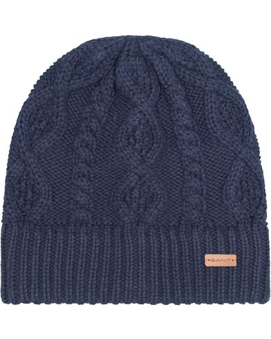 Gant Cable Beanie Marine  i gruppen Accessoarer / Mössor hos Care of Carl (13322510)