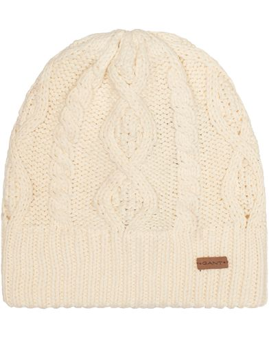 Gant Cable Beanie Cream  i gruppen Accessoarer / Mössor hos Care of Carl (13322610)