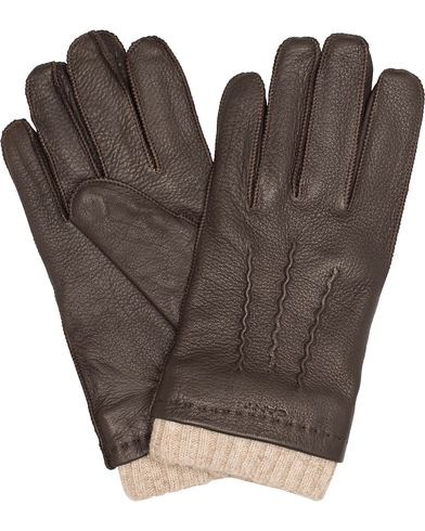 Gant Classic Deerskin Gloves Brown Mud i gruppen Säsongens nyckelplagg / Promenadhandskarna hos Care of Carl (13322811r)