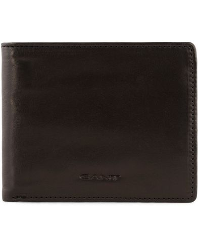 Gant Leather Wallets Black  i gruppen Assesoarer / Lommebøker / Vanlige lommebøker hos Care of Carl (13322910)