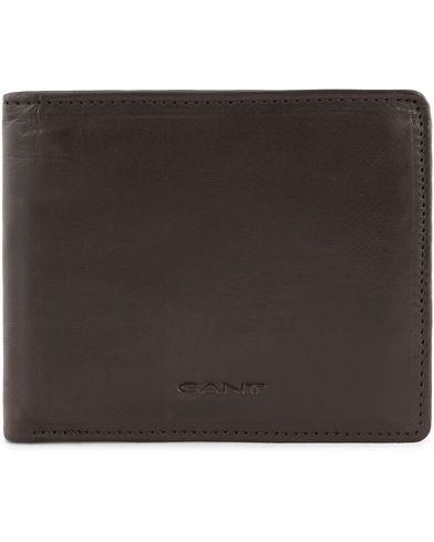 Gant Leather Wallets Black Mud  i gruppen Assesoarer / Lommebøker / Vanlige lommebøker hos Care of Carl (13323010)