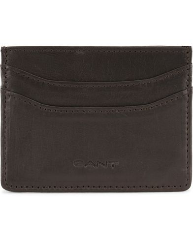 Gant Leather Card Holder Brown Mud  i gruppen Accessoarer / Plånböcker / Korthållare hos Care of Carl (13323410)