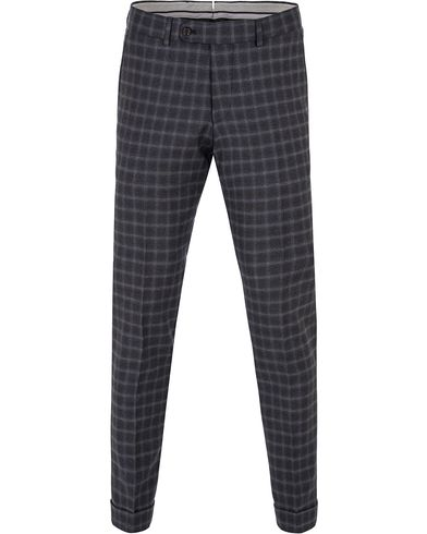 Morris Heritage Fred Check Trousers Grey i gruppen Byxor / Flanellbyxor hos Care of Carl (13323911r)