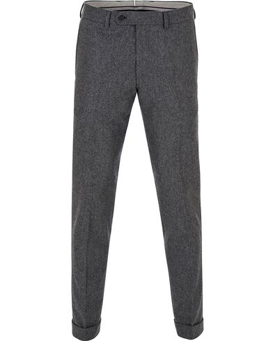 Morris Heritage Fred Flannel Turn Up Super 120 Trousers Dark Grey i gruppen Kläder / Byxor / Flanellbyxor hos Care of Carl (13324111r)