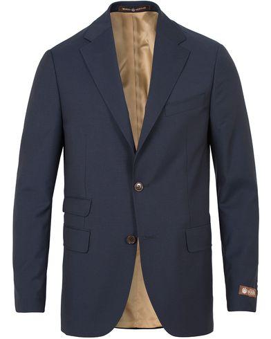 Morris Heritage Frank Plain Suit Blazer Navy i gruppen Kavajer / Enkelknäppta kavajer hos Care of Carl (13324311r)