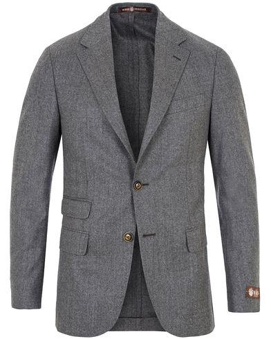Morris Heritage Frank Light Flannel Blazer Light Grey i gruppen Design A / Dressjakker / Enkeltspente dressjakker hos Care of Carl (13324711r)