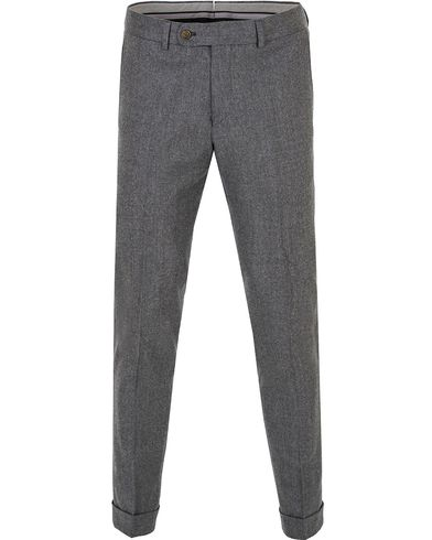 Morris Heritage Fred Light Flannel Turn Up Super 120 Trousers Light Grey i gruppen Klær / Bukser / Flanellbukser hos Care of Carl (13324811r)