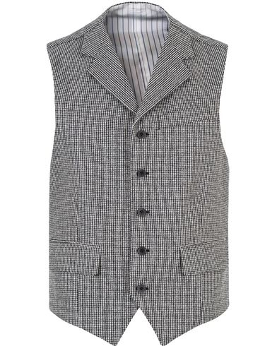 Morris Heritage Charles Pepita Waiscoat Grey i gruppen Dressjakker / Vester hos Care of Carl (13325111r)