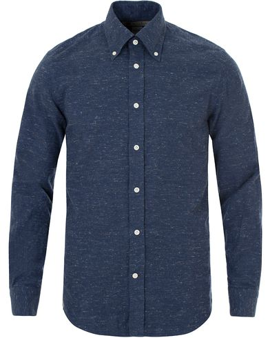 Morris Heritage Homespane Flannel Button Down Shirt Navy i gruppen Skjortor / Flanellskjortor hos Care of Carl (13326211r)