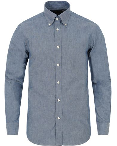 Morris Heritage Chambray Button Down Shirt Blue i gruppen Skjorter / Casual Skjorter hos Care of Carl (13326311r)