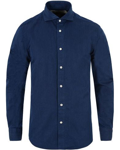 Morris Heritage Bond Cut Away Shirt Dark Indigo i gruppen Klær / Skjorter / Casual skjorter hos Care of Carl (13326411r)