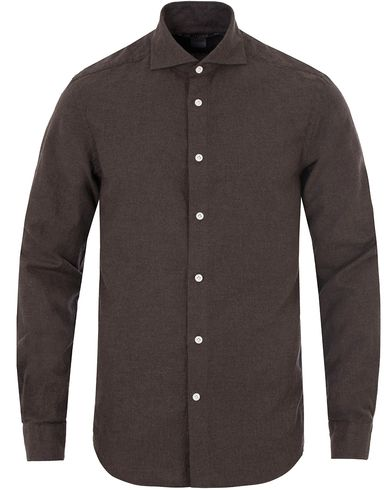 Morris Heritage Bond Cut Away Flannel Shirt Brown i gruppen Skjorter / Flanellskjorter hos Care of Carl (13326511r)