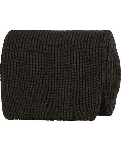 Morris Heritage Stefano Knitted 8cm Tie Black  i gruppen Accessoarer / Slipsar hos Care of Carl (13326710)