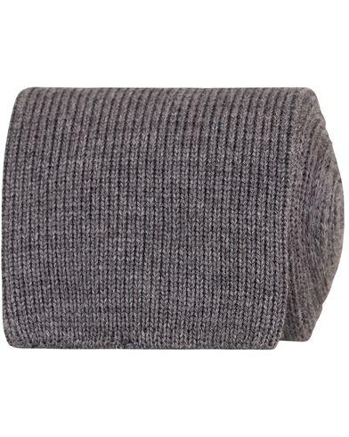 Morris Heritage Stefano Knitted 8cm Tie Grey  i gruppen Accessoarer / Slipsar hos Care of Carl (13326810)