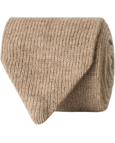 Morris Heritage Roberto Knitted Cashmere 7cm Tie Camel  i gruppen Assesoarer / Slips hos Care of Carl (13326910)