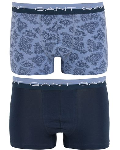 Gant 2-Pack Boxer Cotton Stretch Paisley Night Fall/Blue i gruppen Undertøy / Underbukser hos Care of Carl (13329111r)