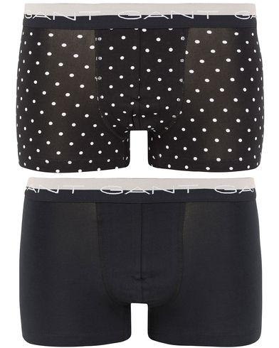 GANT 2-Pack Cotton Stretch Retro Dot Black i gruppen Kläder / Underkläder / Kalsonger hos Care of Carl (13329211r)