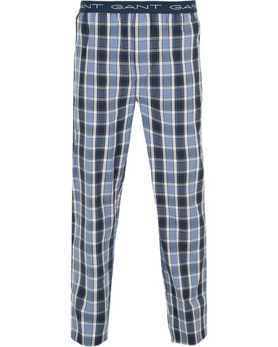 GANT Cotton Check Pyjama Pants Nightfall Blue i gruppen Kläder / Underkläder / Pyjamas / Pyjamasbyxor hos Care of Carl (13329911r)