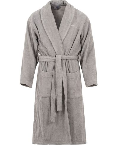 GANT Terry Cotton Bathrobe Grey i gruppen Klær / Undertøy / Morgenkåper hos Care of Carl (13330111r)