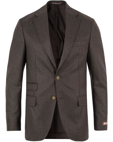 Morris Heritage Frank Light Flannel Blazer Brown i gruppen Kavajer / Enkelknäppta kavajer hos Care of Carl (13330211r)