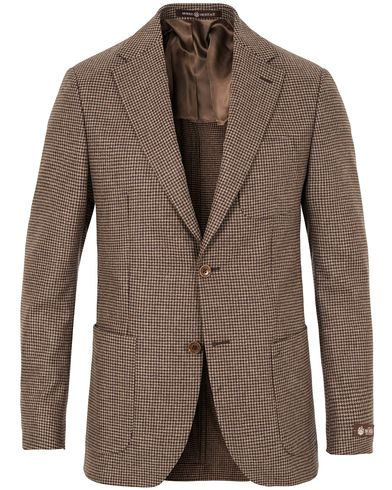 Morris Heritage Keith Light Flannel Houndstooth Blazer Brown i gruppen Klær / Dressjakker / Enkeltspente dressjakker hos Care of Carl (13330311r)